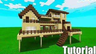 "Minecraft Tutorial: How To Make A Wooden Survival House #4 ""Starter House Tutorial"""