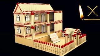 How to Make Amazing Matchstick House Not Fire at Home || Match stick House
