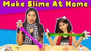 How to Make Easy Slime At Home | Kids Making Slime At Home (Only Two Ingredients)