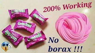 how to make slime with chewing gum | no borax! no activator! 1000% Working real slime recipe.