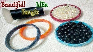 How to make beaded silk thread Bangles // Designer Stylish Fashionable Bangles
