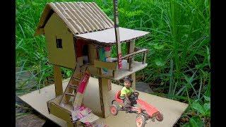 How To make a  Paper House by Using Recycle Paper, DIY paper