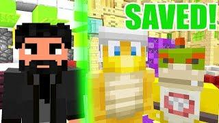 FORTNITE JOHN WICK SAVES BOWSER JR! | Nintendo Fun House | Minecraft [346]