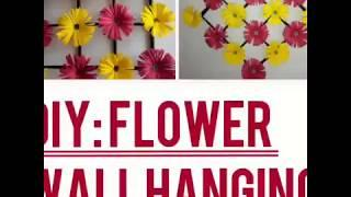 DIY : Paper Flower wall hanging : wall decoration