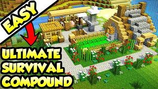Minecraft ULTIMATE Survival MEGA-Base Tutorial (How to Build)