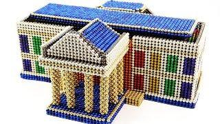 DIY How To make White House In USA With Magnetic Balls (Magnet ASMR) ???? Surprise Balls