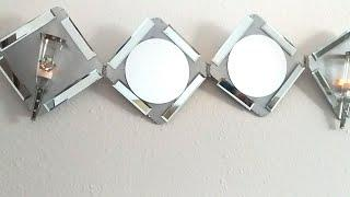 Diy wall mirror decor |Diy Wall Mirror Sconces Home Decor Idea