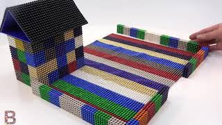 ASMR How To Make House Has a Swimming Pool and Garden from Magnetic Balls   Mr Balls #mgt