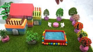 #DIY How To Make Rainbow Mini House Villa with Kinetic Sand, Mad Mattr, Slime