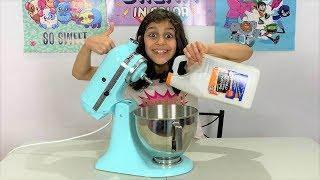 Making Slime in Giant Mixer with 1 Gallon of GLUE!