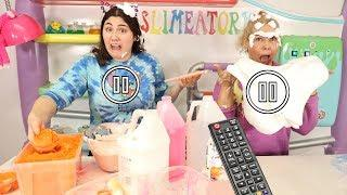 PAUSE CHALLENGE WHILE MAKING SLIME ~ Slimeatory #553