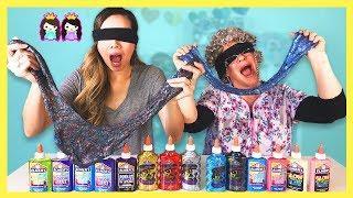 Blindfolded Slime Challenge!!!