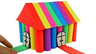 DIY How To Make Mad Mattr Rainbow House for My Little Pony Kinetic Sand Color Learning for Kids