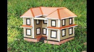 How To make House With Cardboard Box/ DIY Cardboard House Very Easy/Make Paper House