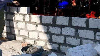 Construction - How To Build A Brick Wall  Easily - sand and cement