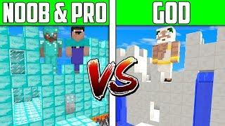 Minecraft NOOB vs PRO vs HACKER vs GOD: CASTLE HOUSE Challenge in Minecraft / Animation