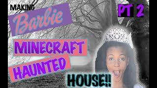 Minecraft Barbie Haunted House Tutorial Pt 2 | How to Make a Beginner Barbie House