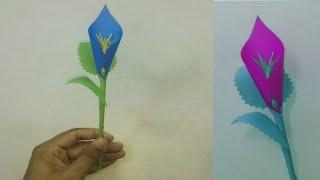 How to Make Calla Lily Paper Flower - DIY Paper Flowers - Simple Origami Paper Flower for Beginners