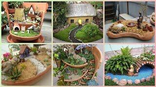 Beautiful fairy garden ideas for your home/mini garden in a pot