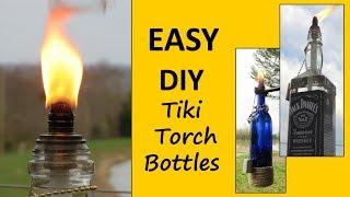 EASY DIY Tiki Torches From Recycled Bottles!