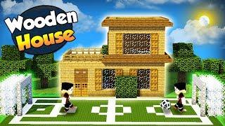 Minecraft: How to Build a Wooden House With a Football Field - Tutorial (#4)