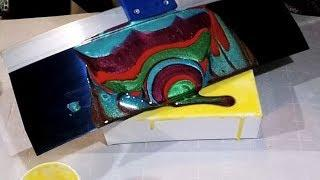 Quick Epoxy Resin Art - Painting with a Taping Knife aka the Dustpan Pour