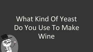 What kind of yeast do you use to make wine