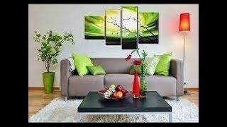 Wall art canvas painting ideas for living room