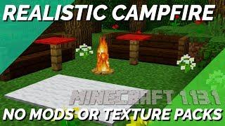 How to Make a Campfire in Minecraft THAT LOOKS REAL | Minecraft Building Tutorial with Avomance