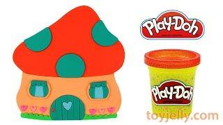 How to Make Play Doh Mushroom House Learn Colors with Baby Toys Fun Nursery Rhymes for Kids Children