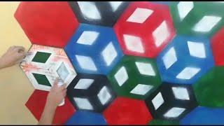 فكره جديدة لعمل ديكور المكعبات العجيبه 3D بطريقه سهله جداا!!! Learn to paint amazing 3D cubes easily