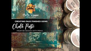 Creating Faux Finishes with Chalk Paste!