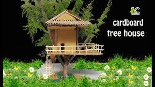 How To Make Cardboard Tree House ,DIY Paper Tree House