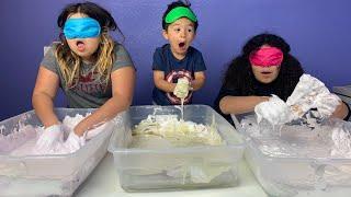 Gabe CHEATED!!! Blindfolded Slime Challenge!
