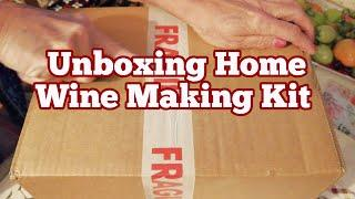 Unboxing Home Wine Making Kit/ Solomon Grundy Gold Sauvignion Blanc Wine Kit