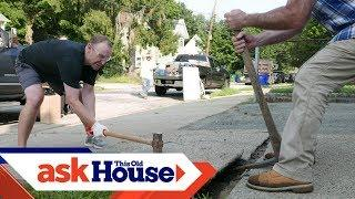 How to Replace a Concrete Walkway