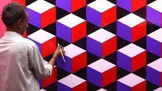 3d wall texture design | 3d wall painting | 3d wall decoration effect design ideas | interior design