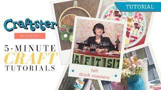 DIY Custom Wine Glass Coasters (Felt No-Sew Coasters) | Craftster.org