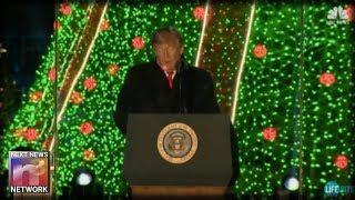 Seconds After White House Christmas Tree Lit Look What Showed Up On Trump's Chest