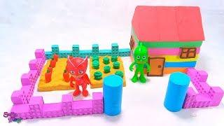 DIY How to Make House and Garden with Kinetic Sand , Mad Mattr and Pj Masks Toys