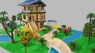 Building Popsicle Stick Mansion - Popsicle Garden Villa - Happy house