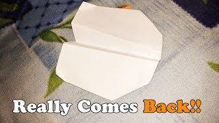 How to Make Paper Airplane Boomerang | Amazing Things Made Out Of Paper #13