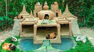Build Most Beautiful Guinea Pig House With 7 Towers Temple And Tiny Swimming Pool