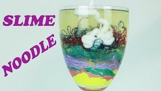 SLIME NOODLES  SATISFYING GLASS SLIME How to Make Slime in Glass
