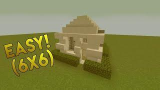 Minecraft: How To Build Small Modern House 6x6 - (#1)