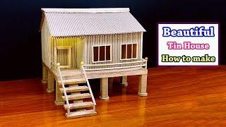 How to make Beautiful Tin House form cardboard/ School project Model