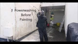 How to Paint an Exterior Wall : Pressure Washing When Painting an Exterior Wall