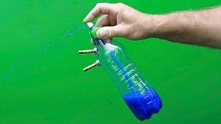 An unusual idea with a bottle and a can of spray paint !! ????????????
