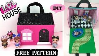 How to make LOL Surprise Doll House Free Pattern DIY