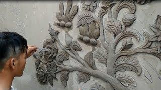 Beautiful Design - Skills in Working on Concrete Walls from sand and cement